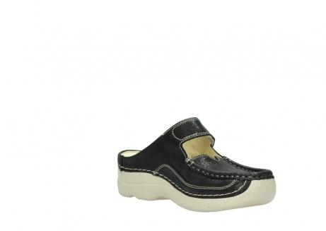 wolky slippers 06227 roll slipper 90070 zwart dots nubuck_16