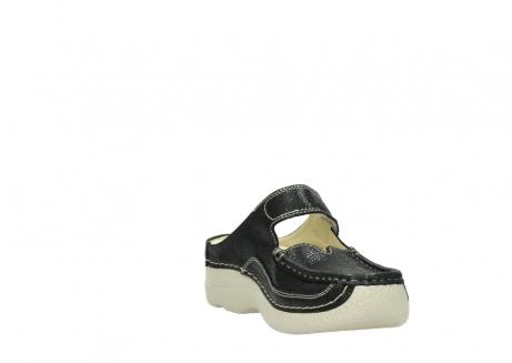 wolky slippers 06227 roll slipper 90070 zwart dots nubuck_17