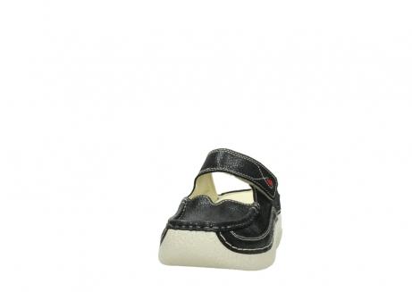 wolky slippers 06227 roll slipper 90070 zwart dots nubuck_20