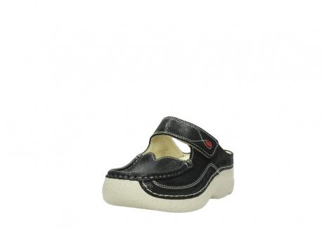 wolky slippers 06227 roll slipper 90070 zwart dots nubuck_21