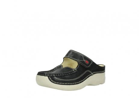 wolky slippers 06227 roll slipper 90070 zwart dots nubuck_22