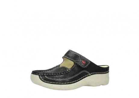 wolky slippers 06227 roll slipper 90070 zwart dots nubuck_23