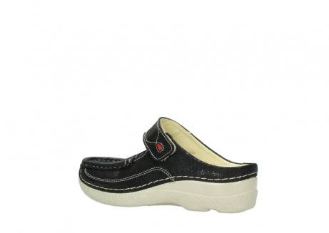 wolky slippers 06227 roll slipper 90070 zwart dots nubuck_3