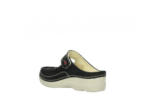 wolky slippers 06227 roll slipper 90070 zwart dots nubuck_4