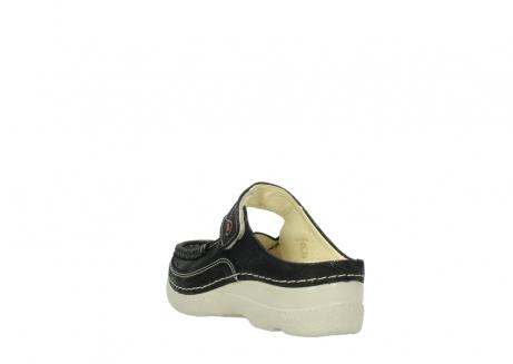 wolky slippers 06227 roll slipper 90070 zwart dots nubuck_5