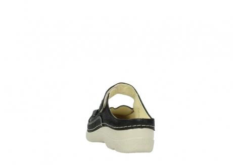 wolky slippers 06227 roll slipper 90070 zwart dots nubuck_6
