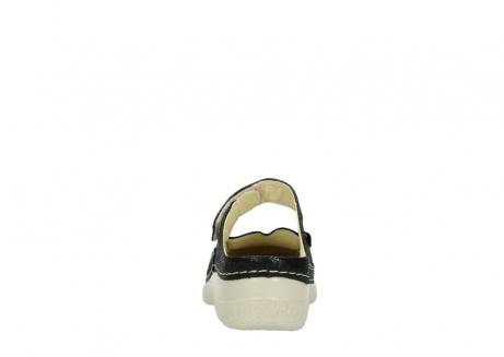 wolky slippers 06227 roll slipper 90070 zwart dots nubuck_7