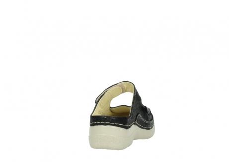 wolky slippers 06227 roll slipper 90070 zwart dots nubuck_8