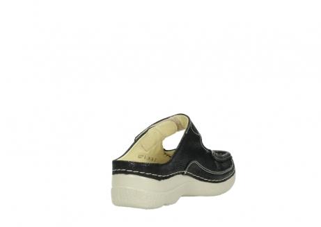 wolky slippers 06227 roll slipper 90070 zwart dots nubuck_9