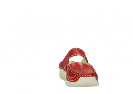 wolky slippers 06227 roll slipper 90570 rood dots nubuck_18