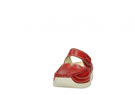 wolky slippers 06227 roll slipper 90570 rood dots nubuck_20