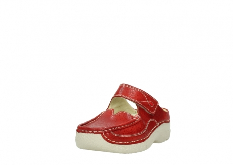 wolky slippers 06227 roll slipper 90570 rood dots nubuck_21