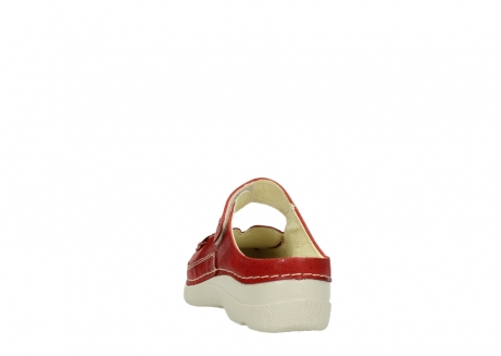wolky slippers 06227 roll slipper 90570 rood dots nubuck_6