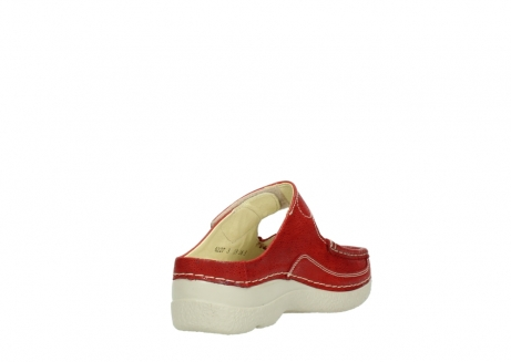 wolky slippers 06227 roll slipper 90570 rood dots nubuck_9