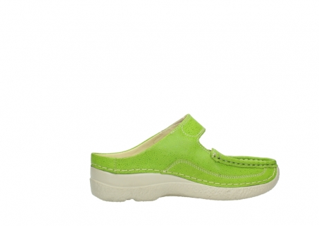 wolky slippers 06227 roll slipper 90750 lime dots nubuck_12