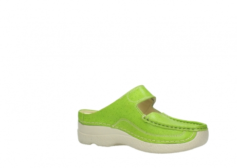 wolky slippers 06227 roll slipper 90750 lime dots nubuck_15