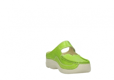 wolky slippers 06227 roll slipper 90750 lime dots nubuck_17