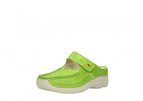 wolky slippers 06227 roll slipper 90750 lime dots nubuck_22