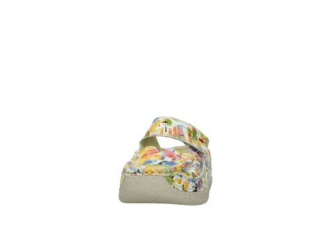 wolky slippers 06227 roll slipper 12910 white multi nubuck_20