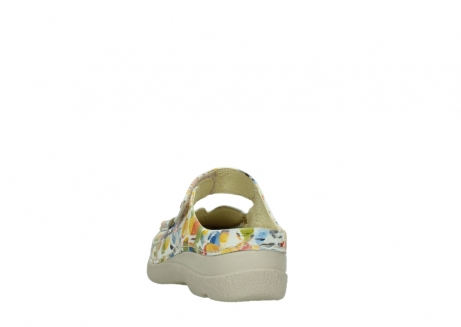wolky slippers 06227 roll slipper 12910 white multi nubuck_6