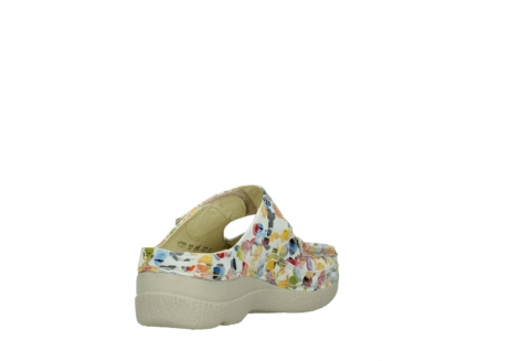 wolky slippers 06227 roll slipper 12910 white multi nubuck_9