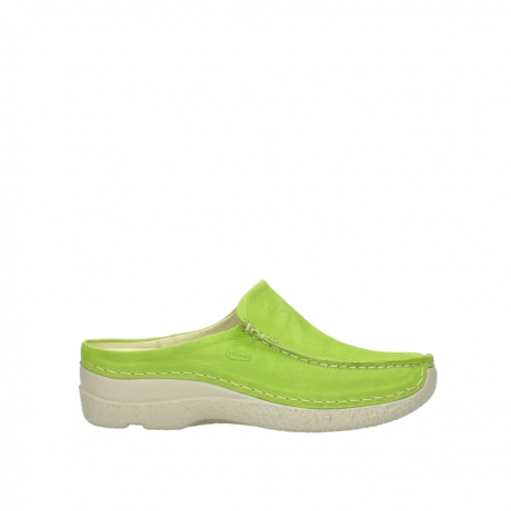 wolky slippers 06250 seamy slide 10750 lime nubuck