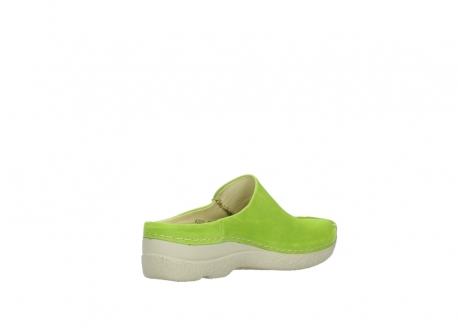 wolky slippers 06250 seamy slide 10750 lime nubuck_10