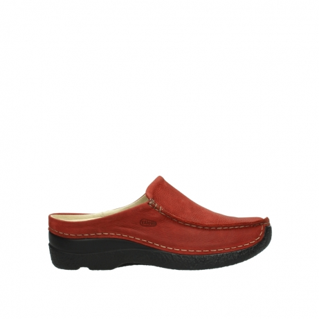 wolky slippers 06250 seamy slide 11542 winter rood nubuck