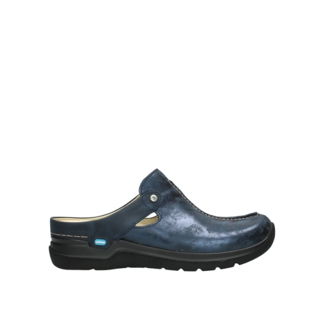 wolky slippers 06600 holland 19800 blauw nubuck