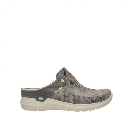 wolky pantoletten 06600 holland 49150 camouflage taupe leder