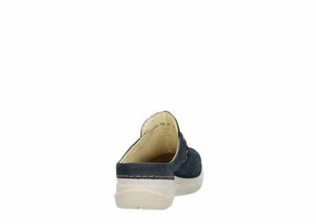 wolky slippers 06600 holland 71870 blauw leer_8