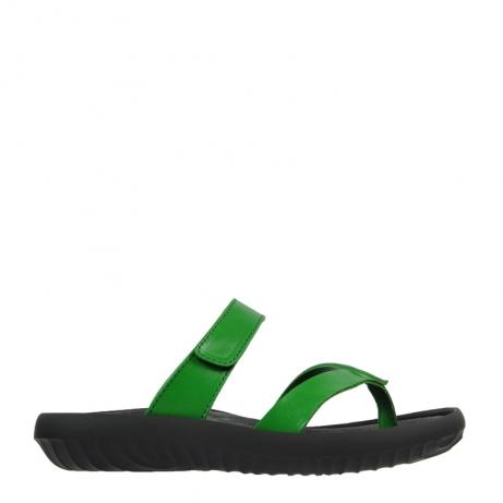 wolky slippers 0880 tahiti 370 groen leer