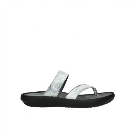 wolky slippers 0880 tahiti 912 gebroken wit cobra leer