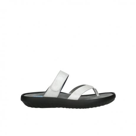 wolky slippers 0880 tahiti 919 parelwit metallic leer