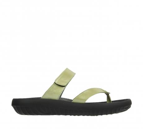 wolky slippers 0880 tahiti 979 mint groen leer