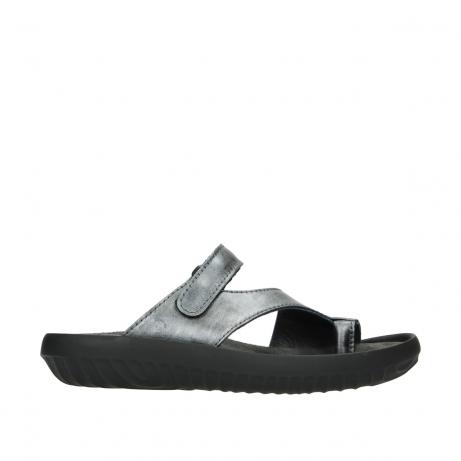 wolky slippers 0881 fiji 928 grijs metallic leer