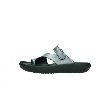 wolky slippers 0881 fiji 928 grijs metallic leer_1