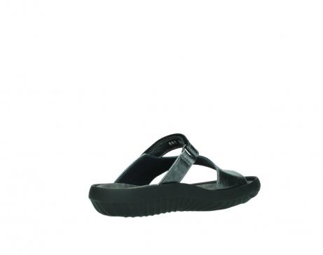 wolky slippers 0881 fiji 928 grijs metallic leer_10