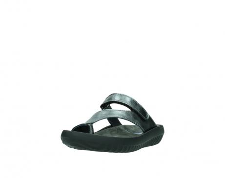 wolky slippers 0881 fiji 928 grijs metallic leer_21