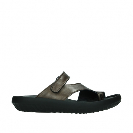 wolky slippers 0881 fiji 933 koper metallic leer