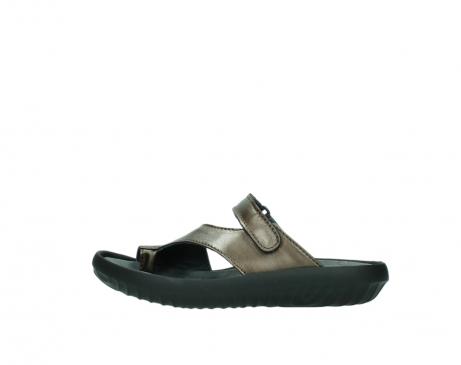 wolky slippers 0881 fiji 933 koper metallic leer_1