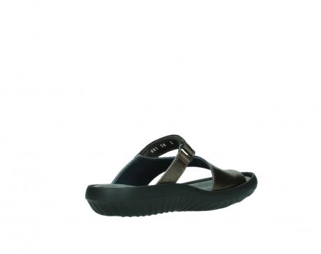 wolky slippers 0881 fiji 933 koper metallic leer_10