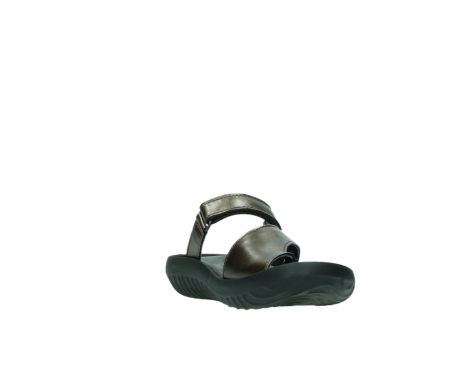 wolky slippers 0881 fiji 933 koper metallic leer_17