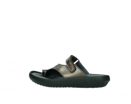 wolky slippers 0881 fiji 933 koper metallic leer_2