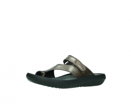 wolky slippers 0881 fiji 933 koper metallic leer_23