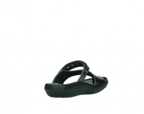 wolky slippers 0881 fiji 933 koper metallic leer_9