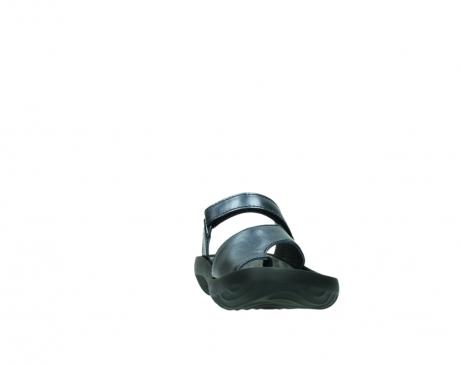 wolky pantoletten 0881 fiji 980 blau metallic leder_18