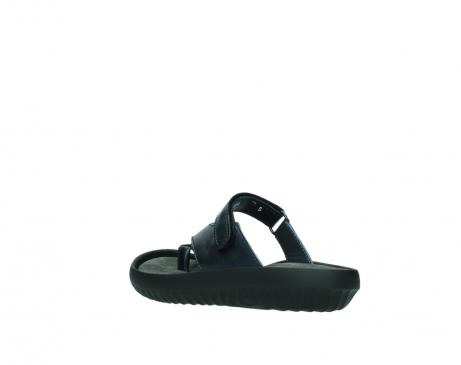 wolky pantoletten 0881 fiji 980 blau metallic leder_4