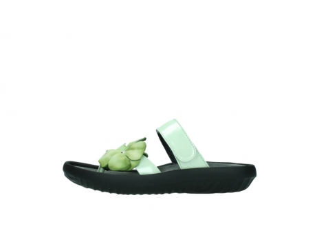 wolky slippers 0883 tahiti flower 679 mint groen lakleer_1
