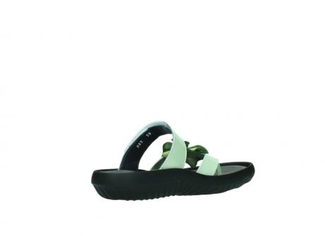 wolky slippers 0883 tahiti flower 679 mint groen lakleer_10